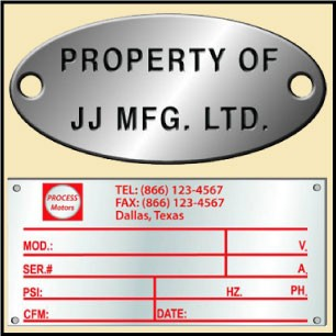 Nameplates, Tags, Tokens & Metal Plates